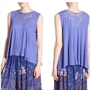 Free People Meant To Be Embroid Asymmetrical Top